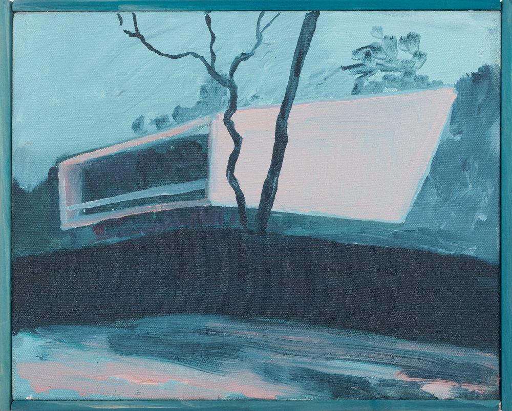 Vivienda privada 1944  , 2016, óleo sobre tela, 26 x 33 cm.