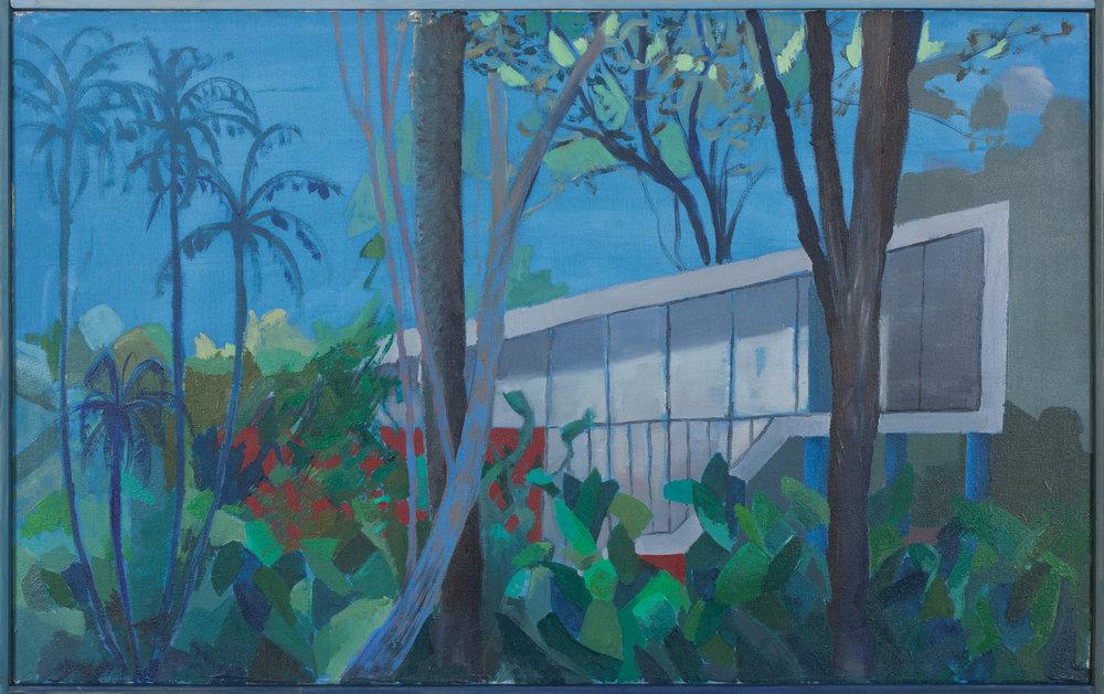 Vivienda privada 1949-II  , 2016, óleo sobre tela, 53 x 86 cm.