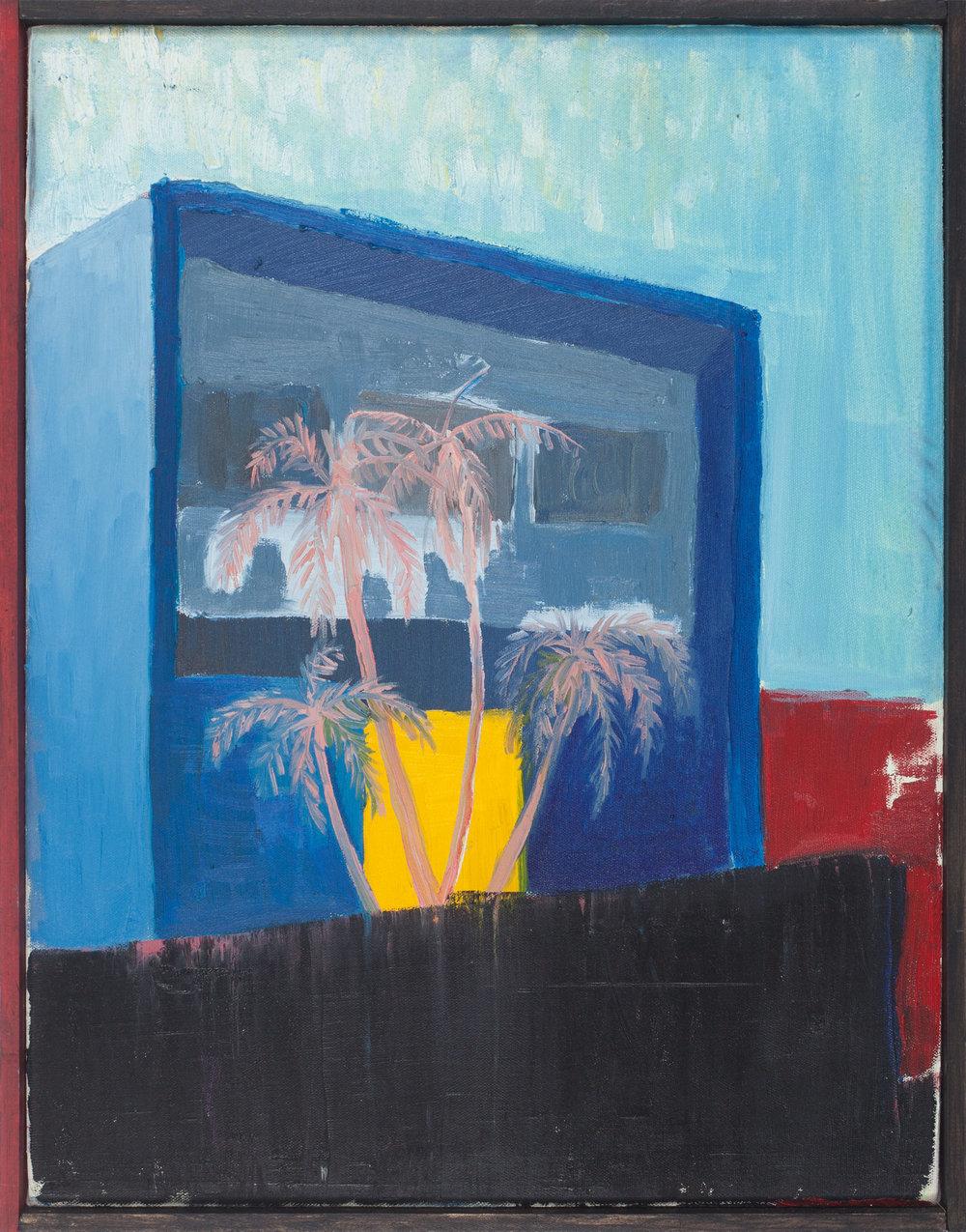 Vivienda privada 1959-II  , 2016, óleo sobre tela, 43 x 33 cm.