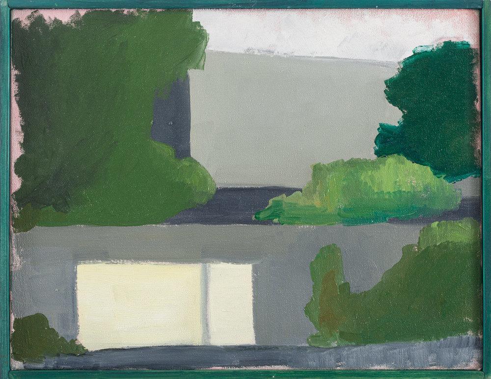 Vivienda privada 1974  , 2017, óleo sobre tela, 33 x 43 cm.