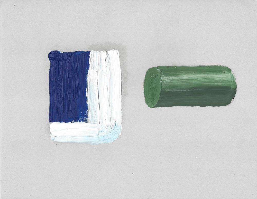 Terre des hommes  , 2017, óleo sobre papel, 28 x 22 cm.