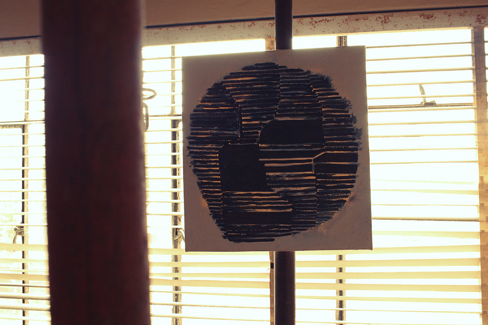 Aforismo 9-B , 2014, acrílico sobre tela, 40 x 43 cm.