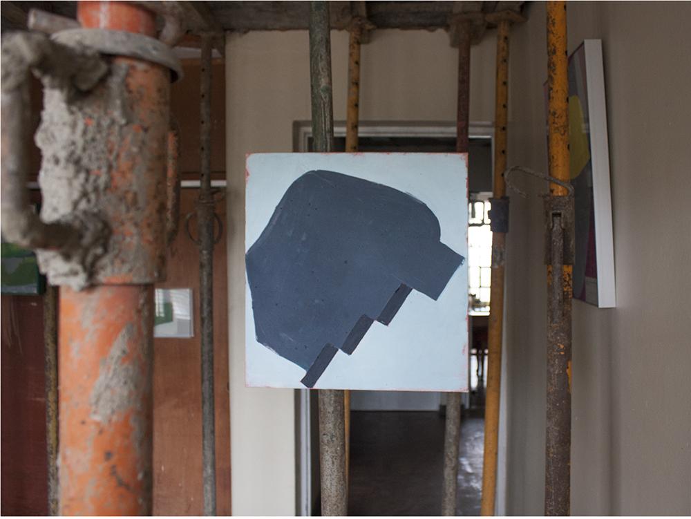 Aforismo 21-B , 2015, acrílico sobre tela, 10 x 43 cm.