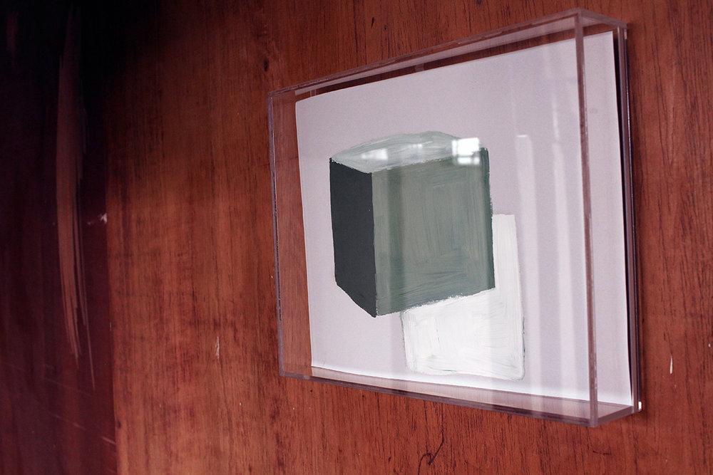 Terre des hommes , 2017, óleo sobre papel, 22 x 28 cm.