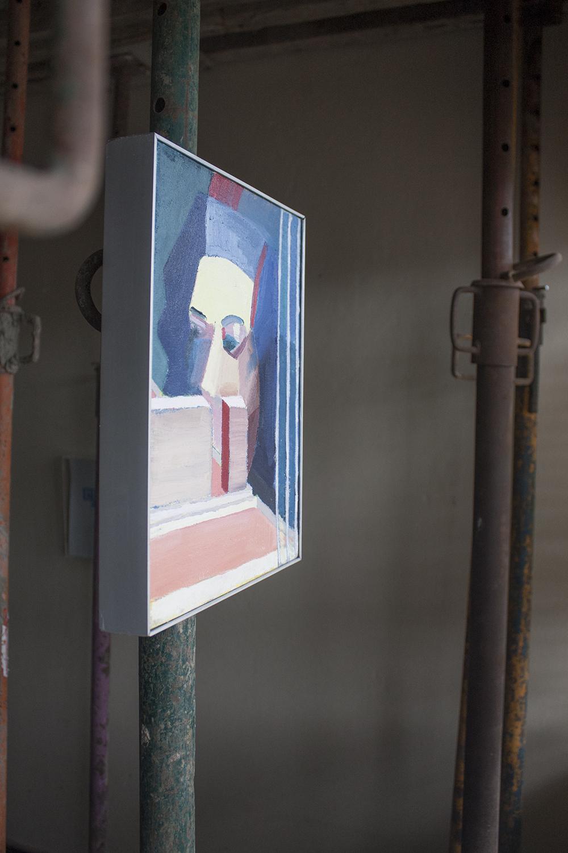 Ante el futuro 4 , 2015, óleo sobre tela, 33 x 26 cm.