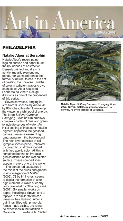 Art in America Review Seraphin Gallery Philadelphia Art Gallery