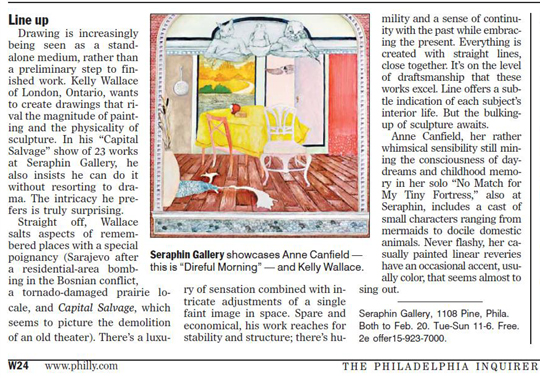 Philadelphia Inquirer Review Seraphin Gallery Contemporary Art Gallery