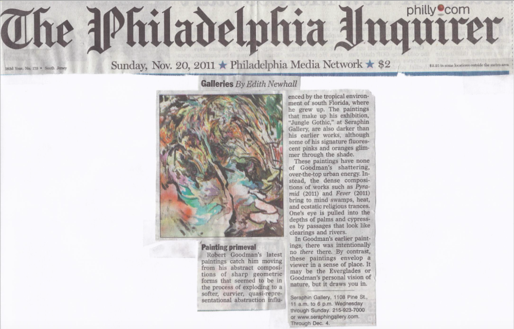 Philadelphia Inquirer Review Seraphin Gallery Fine Art