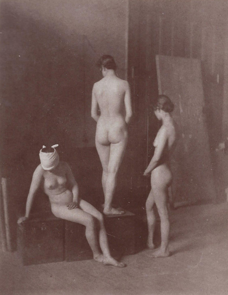 "Thomas Eakins,  Three Female Nude Models , c. 1885, photograph, 5  1/16"" x 3  7/8"""