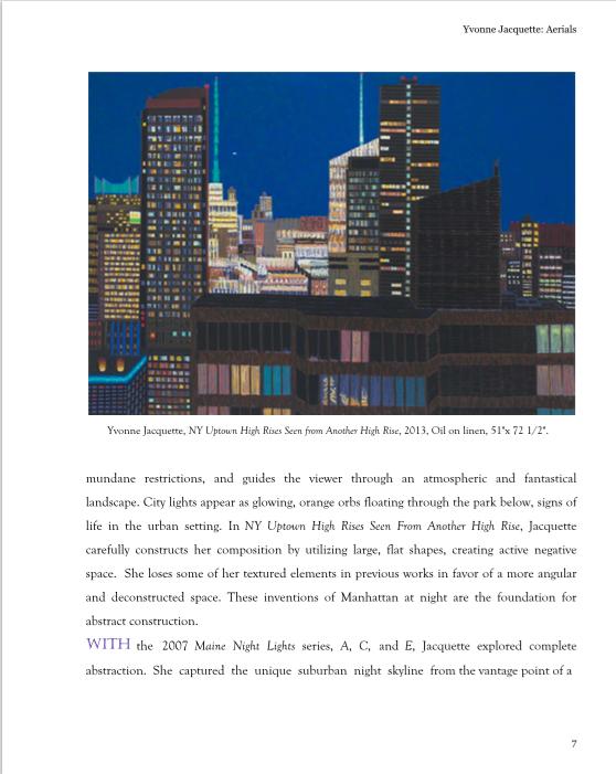 Yvonne Jacquette Essay Seraphin Gallery Philadelphia Art Gallery