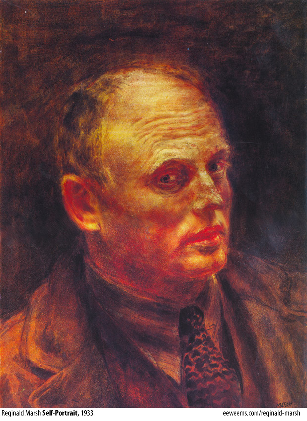 Reginald Marsh, Self-Portrait, 1933