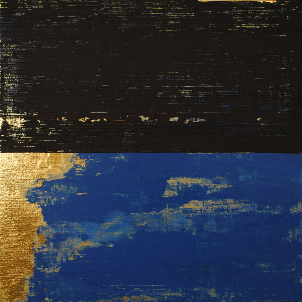 "Figure 2: Michael Morrill, Kind of Blue II, 2015, Oil and acrylic on linen over panel, 16"" x 16"""