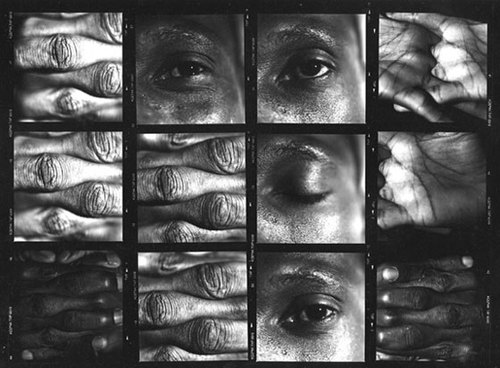 "Anabell Guerrero,  L'Oeil, La Main,  1997, Silver print on aluminum, Polyptych, Edition 3/8, 64"" x 84"""