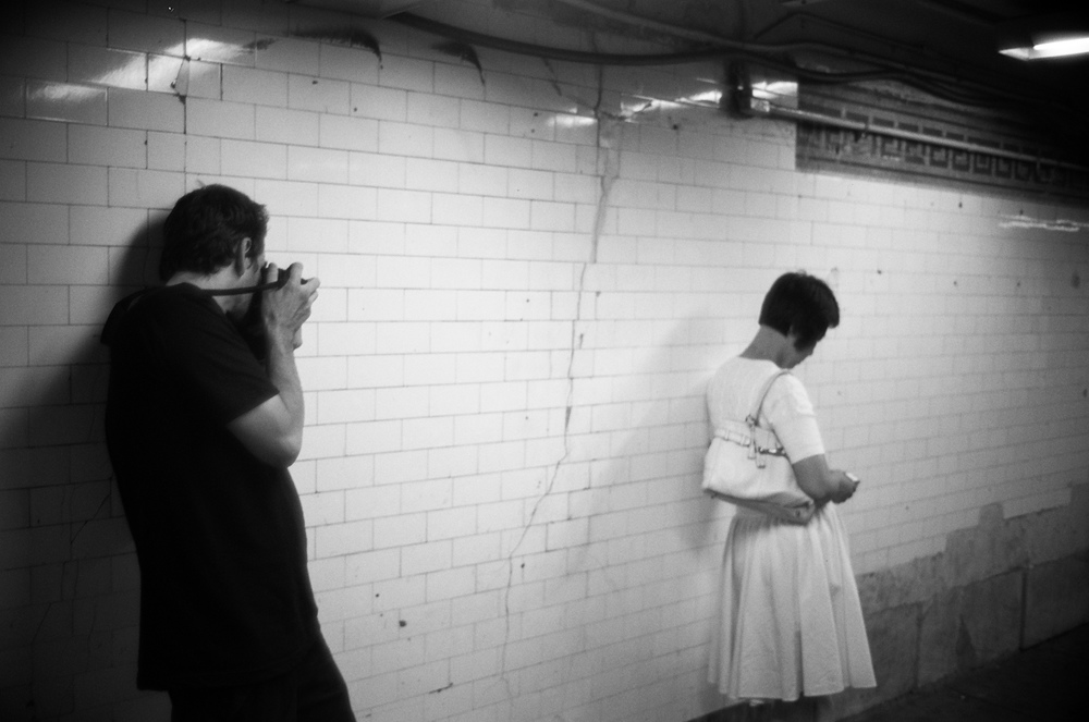 "Cheryl Dunn,  Boogie in the Subway,  2011, Archival pigment print mounted on aluminum, Edition 10, 51"" x 34""."
