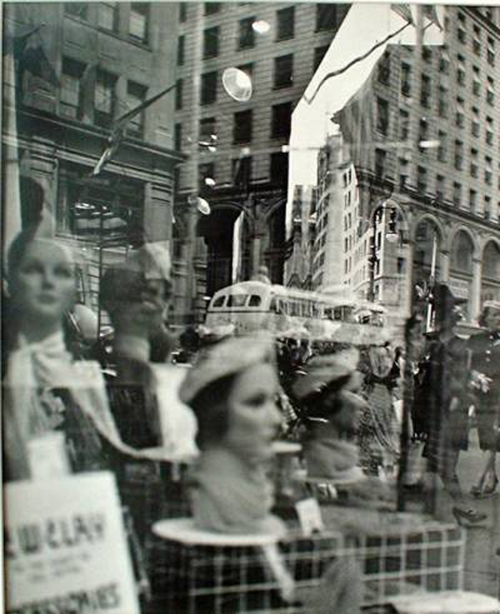 "Lisette Model,  Reflections  1939 - 45, New York City, Silver print, Edition 5/5, 16"" x 13"""