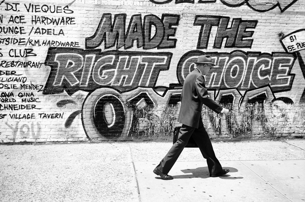 "Cheryl Dunn,  Made the Right Choice, Avenue C,  2012, New York City, Silver gelatin print, Edition 10, 16"" x 24"""
