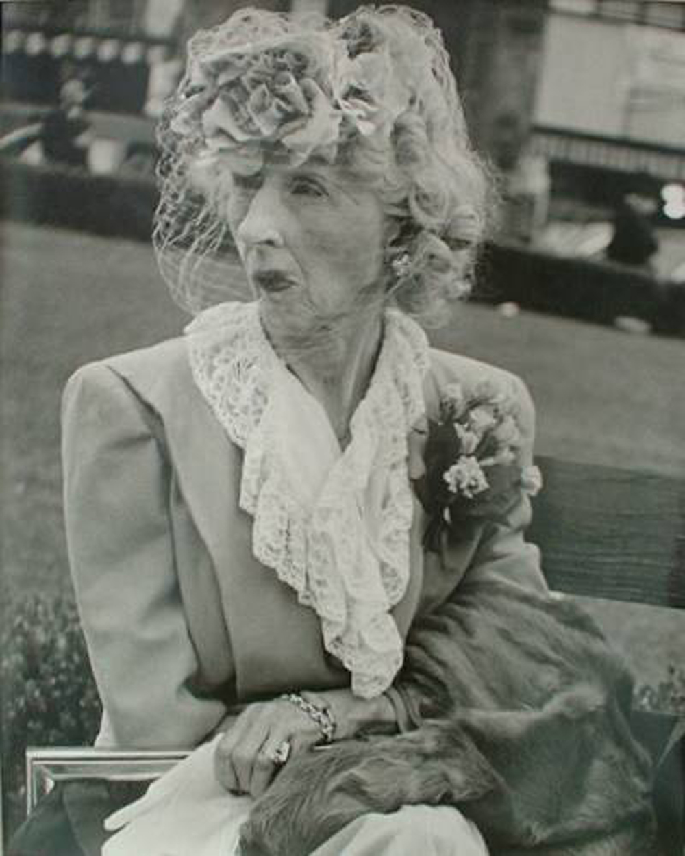 Lisette Model, Femme au Voile ,  1949, San Francisco, Silver print, Edition 6/12
