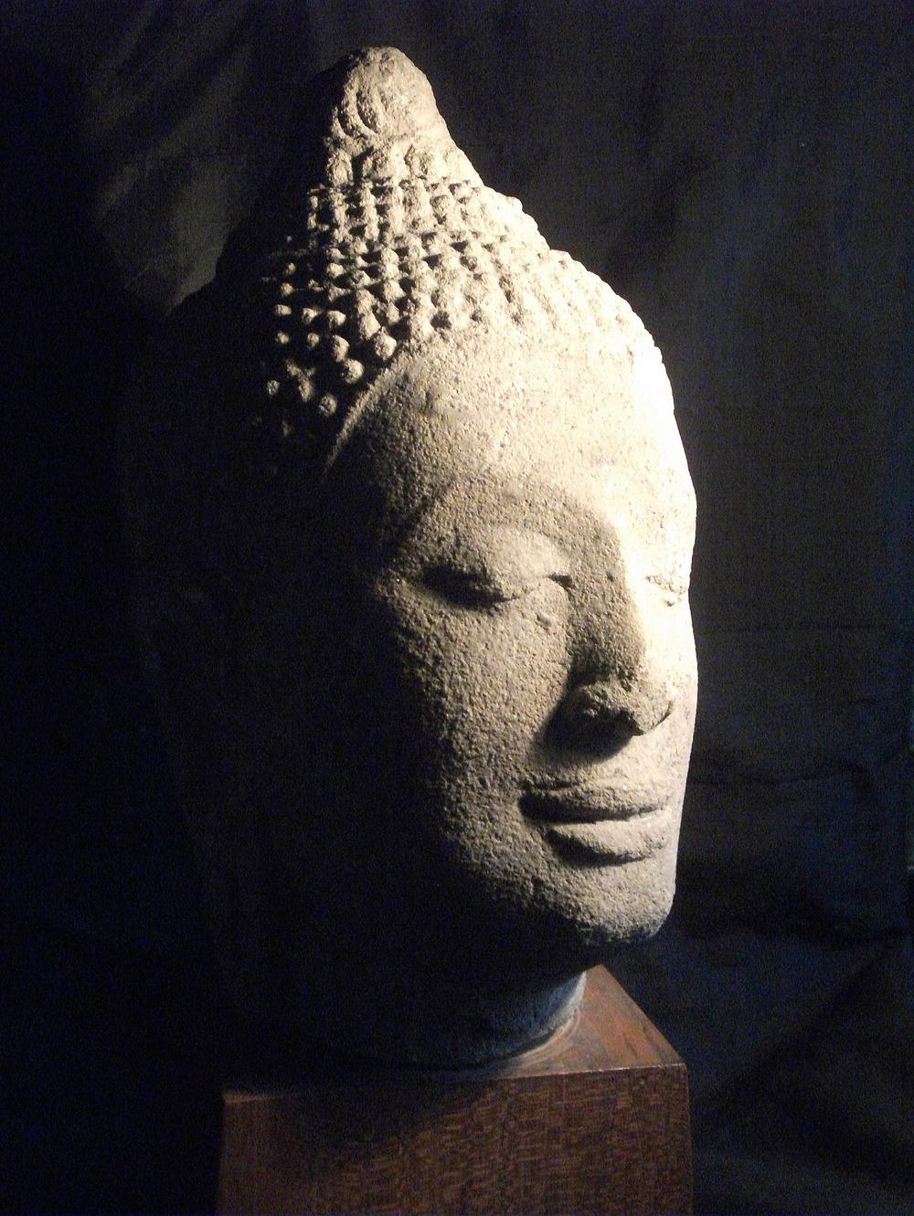 2503/16  Lopburi Style Stone Buddha Head