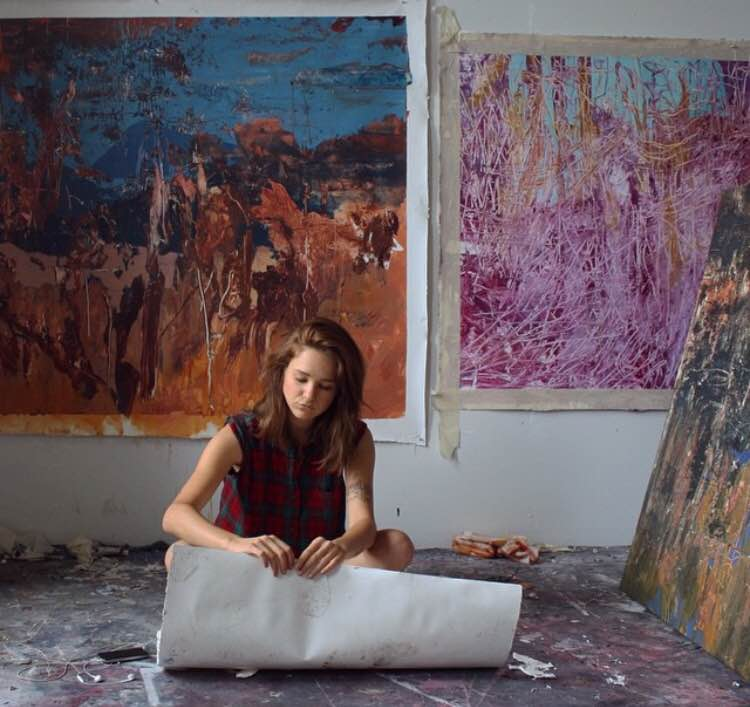 Madeline Peckenpaugh in her studio