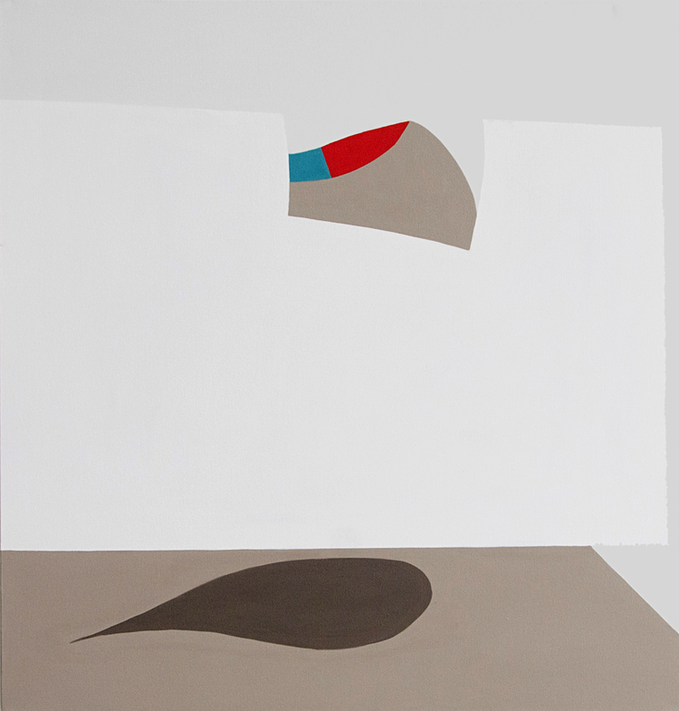 "James Inscho,   Trace,   2012, Oil on canvas, 52"" x 50""."
