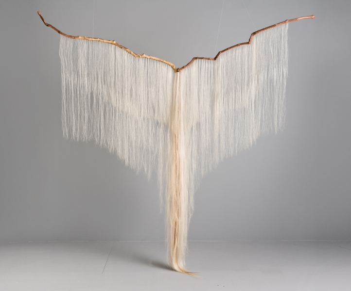 "Millicent Young,  Continuum,  2010, Grapevine, sycamore, horse hair, 103"" x 100"" x 12"""