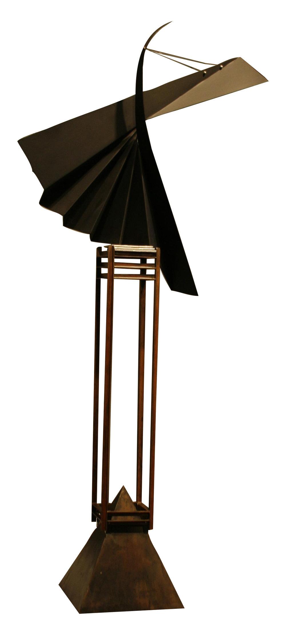 Robert Roesch,  East/West, waxed steel, flat black polychromed steel, stainless steel
