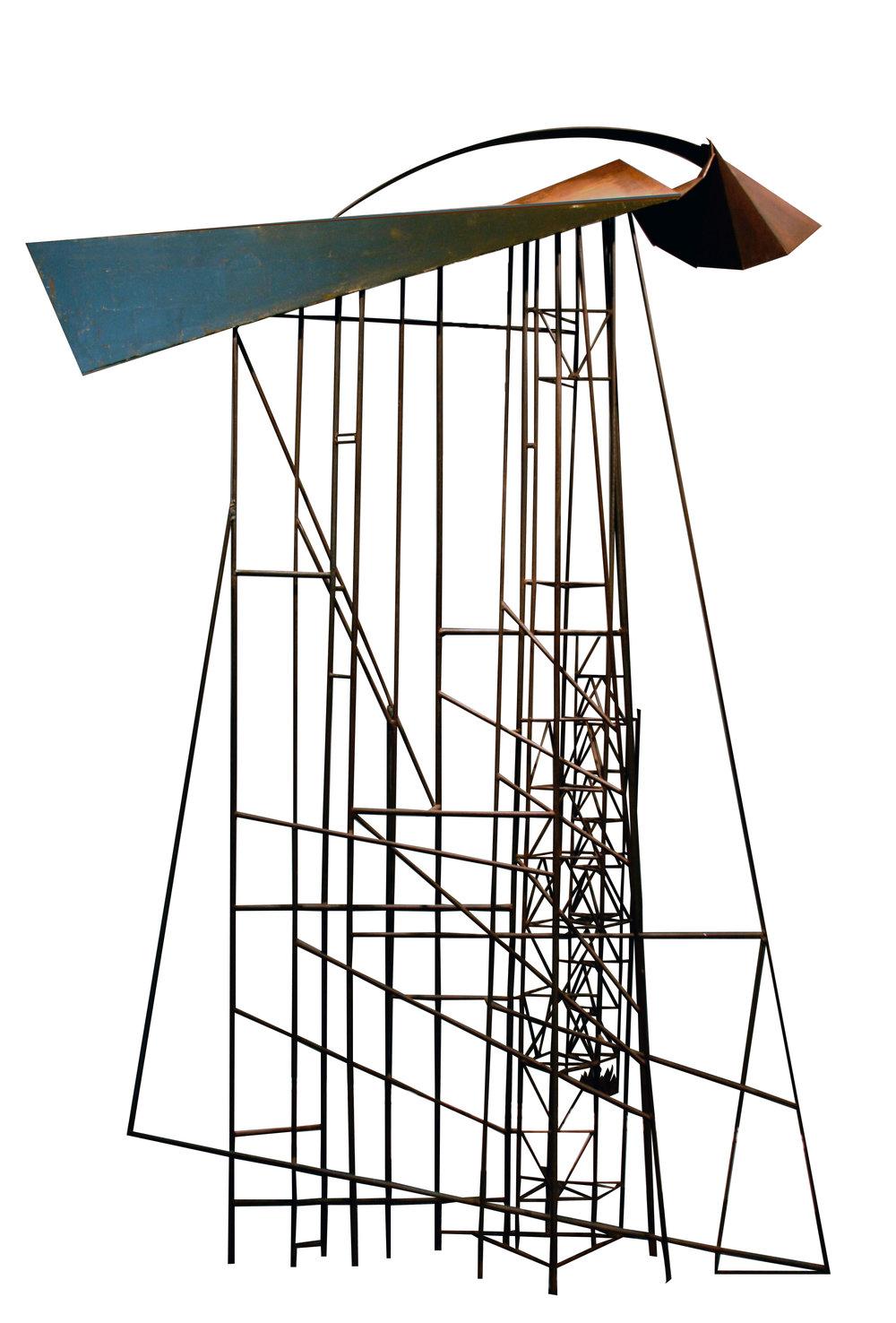 "Robert Roesch,  Rainwall , 1985-2009, waxed mild steel and 23K gold leaf,96"" X 60""X 16"""