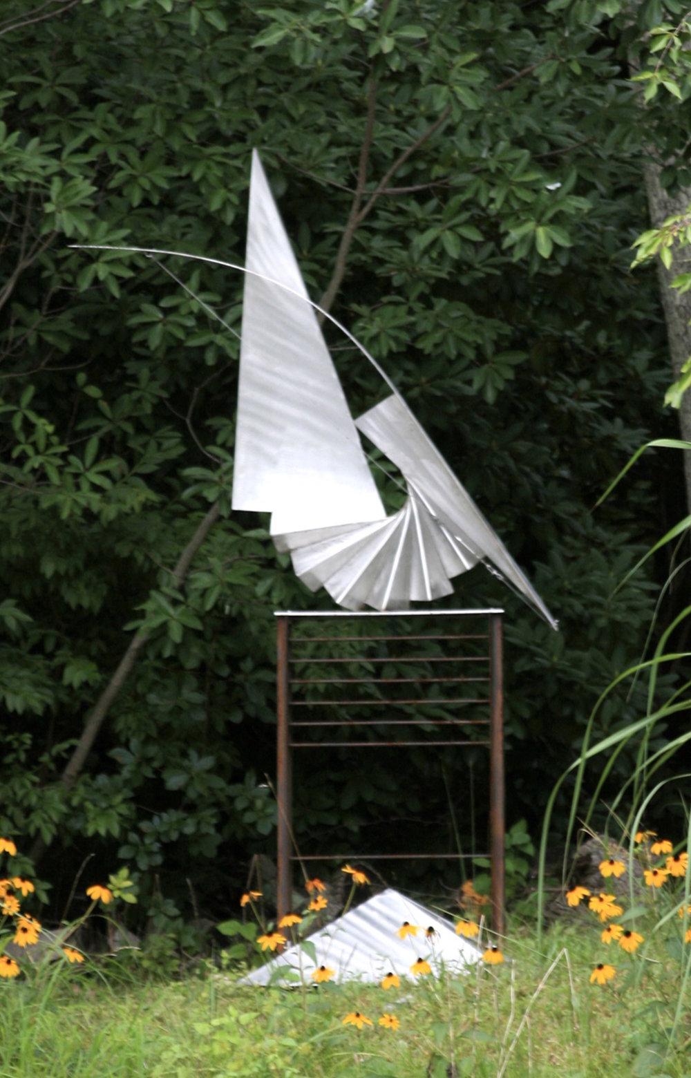 Saiph (Safe),  2007, stainless steel and waxed mild steel, 87 x 48 x 30
