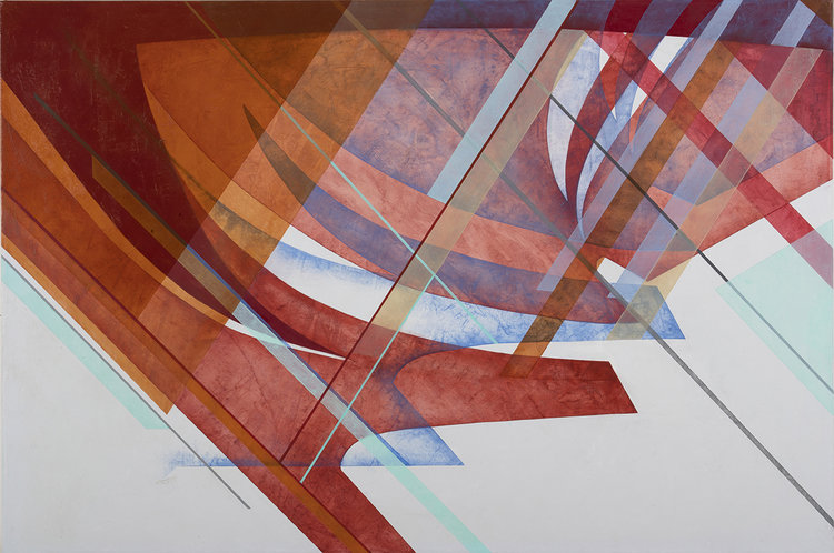 "Paul Fabozzi,Col Tempo (Kanyon, Istanbul) #1, 2017, Oil on canvas, 32"" x 48"""