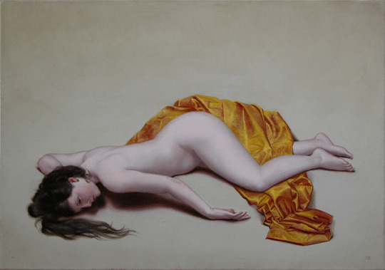 Nude with Golden Cloth