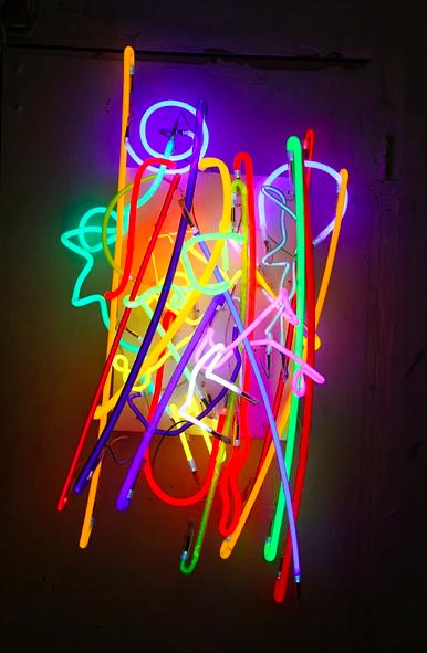 "Craig Kraft, Random Neons , 2010-2012, Neon, metal frame, 52"""