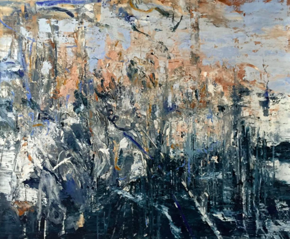 "Madeline Peckenpaugh,  O  f Ruin,  2015, Oil on canvas, 50"" x 60"""