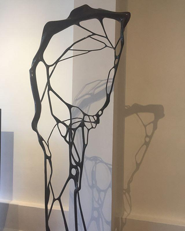 "Currently in our gallery! Geoffrey Dubinsky's ""Eucheuma"", 2013, Steel, 90"" x 30"" x 19.5"" . . . #seraphingallery #sculpture #contemporaryart #philadelphiaart"