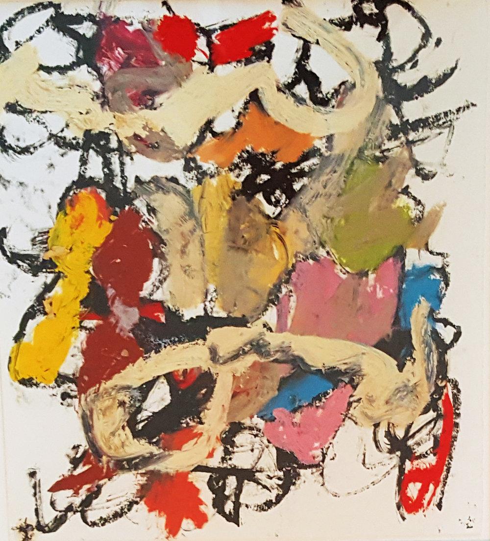 "Michael Goldberg,  Untitled , 2001, Oil on paper, 14"" x 13"""