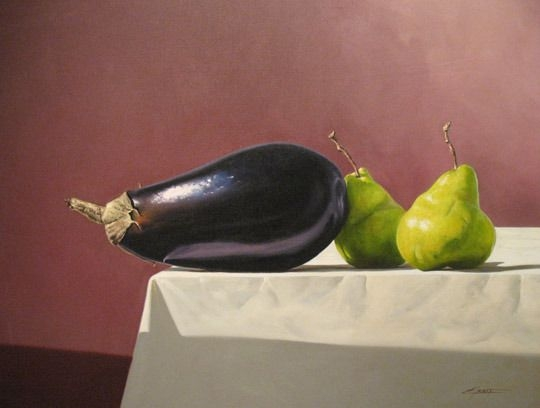 Eggplant with Two Pears