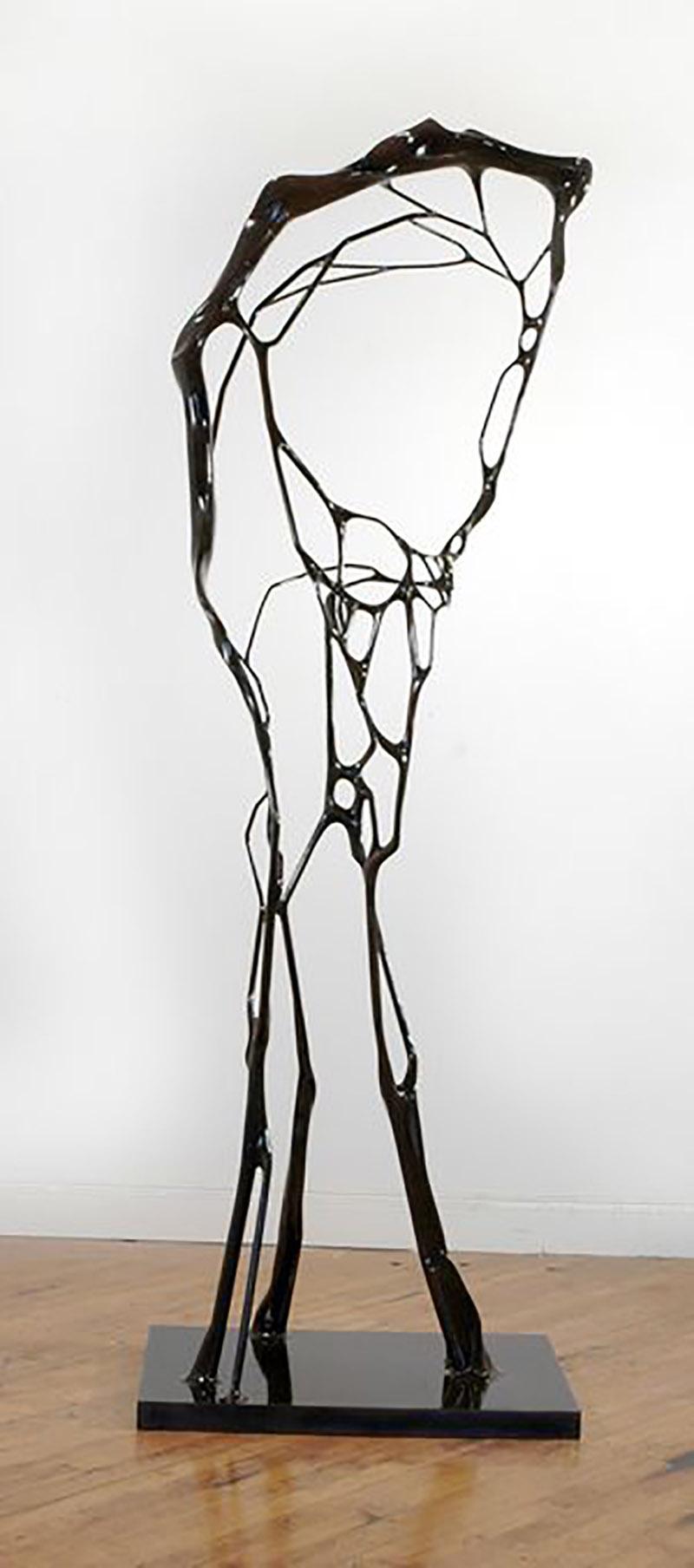"GeoffreyDubinsky   Eucheuma , 2013  Steel  90"" x 19 1/2"" x 30"""