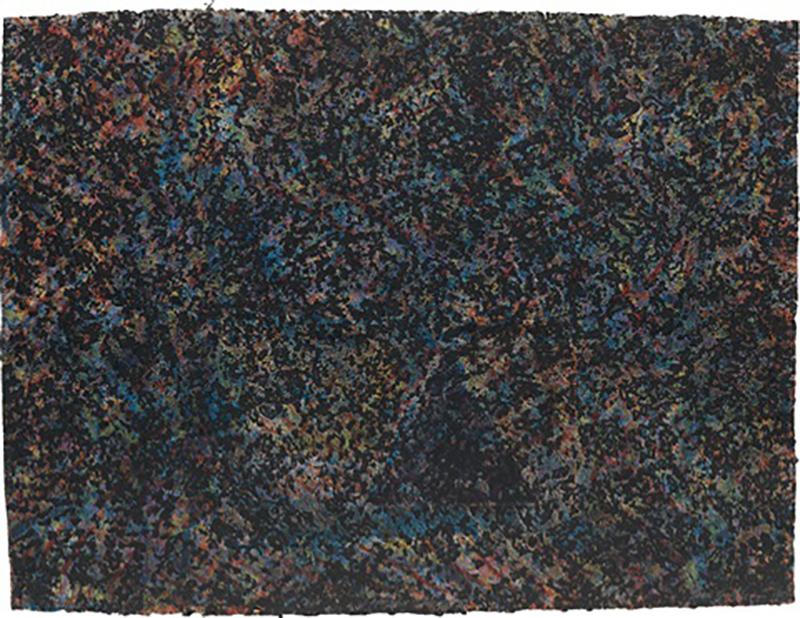Sam Gilliam  Coffee Thyme,  1981 Monoprint and intaglio in colors 30 1/2h x 40w in