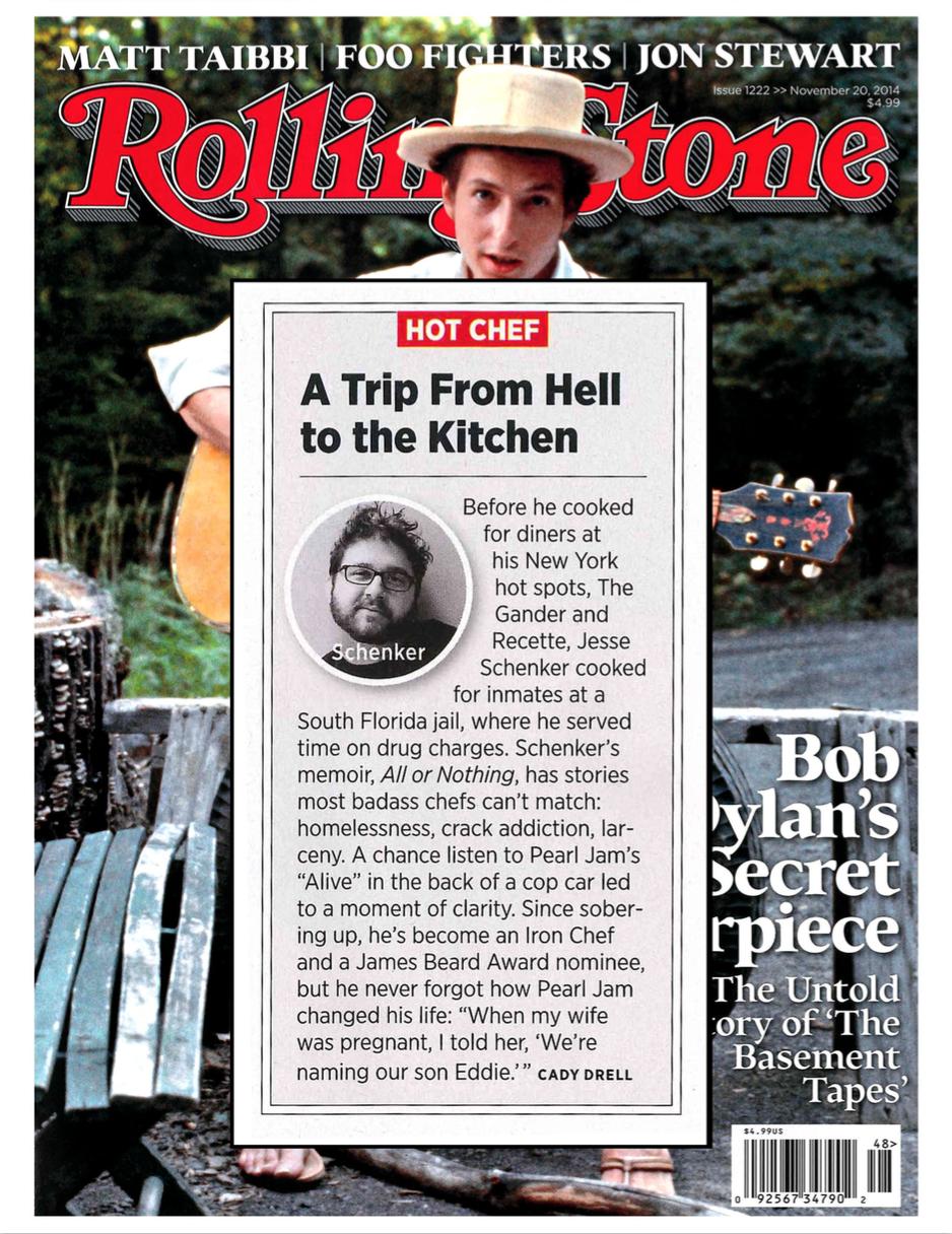 Rolling Stone Magazine, November 2014