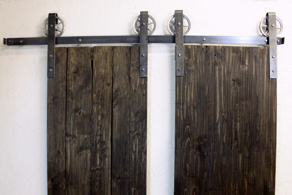 Great Double Door Vintage Classic Hardware U2014 ABA Hardware. European Industrial  Black Spoked Sliding Barn ...