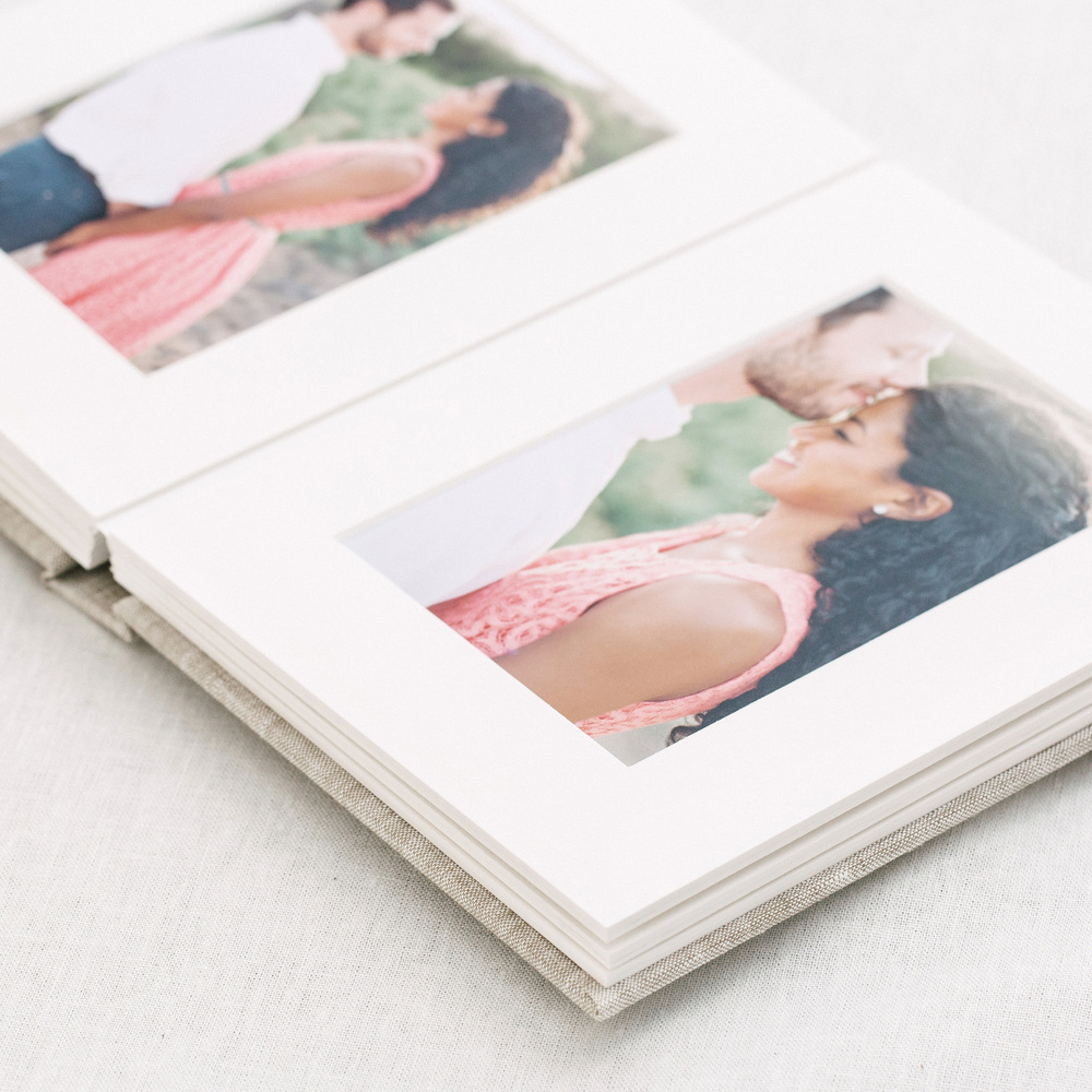 Matted Folio Albums for family session photos