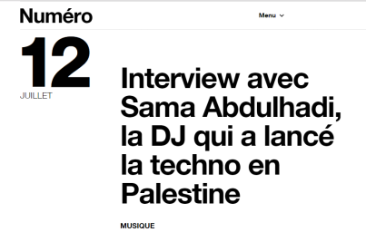 Numéro, 12th July 2018
