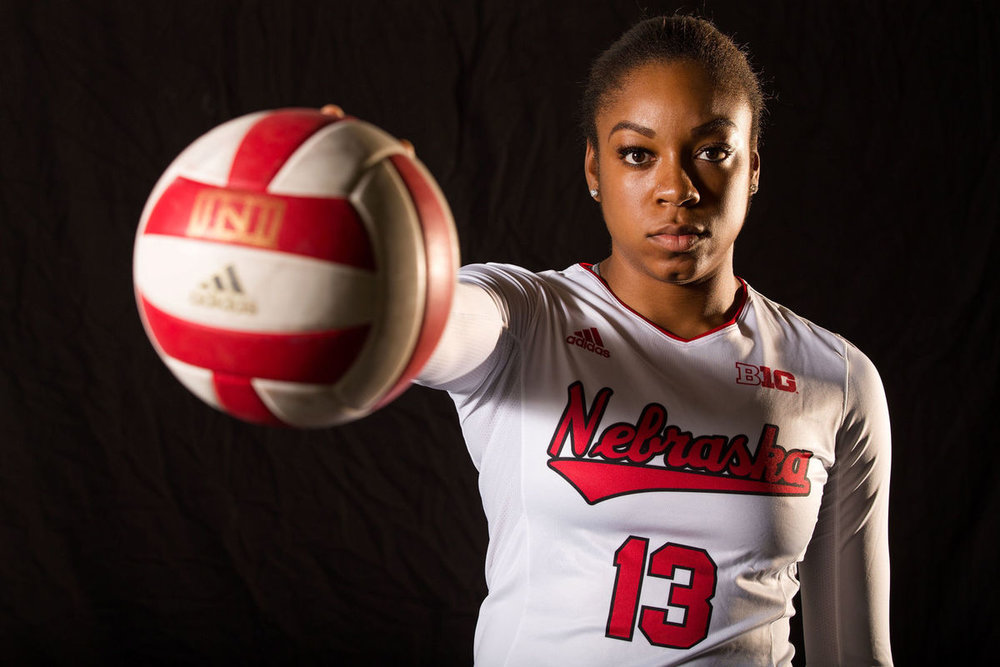 Briana Holman University of Nebraska MB AVCA All-American  2017 NCAA Volleyball National Champion