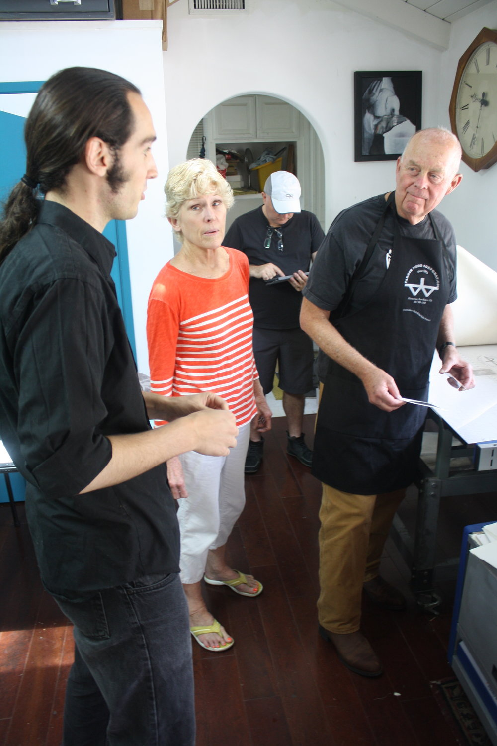 Artist-in-Residence Douglas Bosley Mezzotint Workshop - Summer 2014