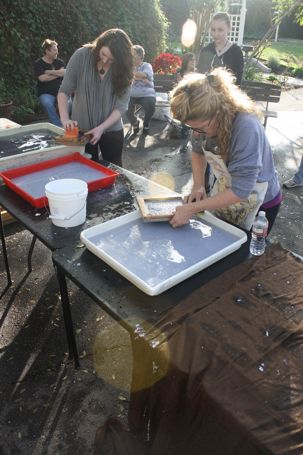 Zeina Baltagi's First Papermaking Workshop - Fall 2013