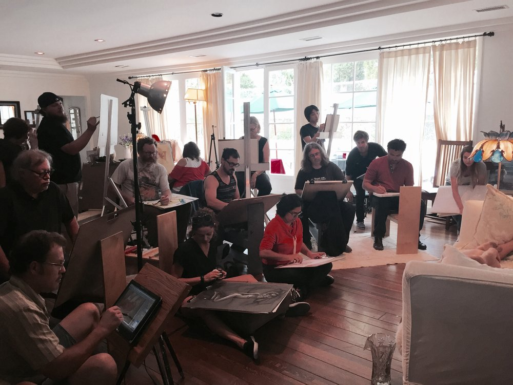 Sunday Life Drawing Workshop - Winter 2015