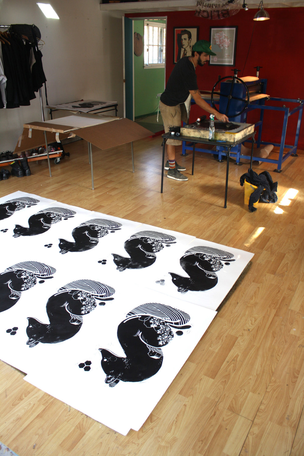 Artist Mateu Velasco Prints a Series of Block Prints - Spring 2014