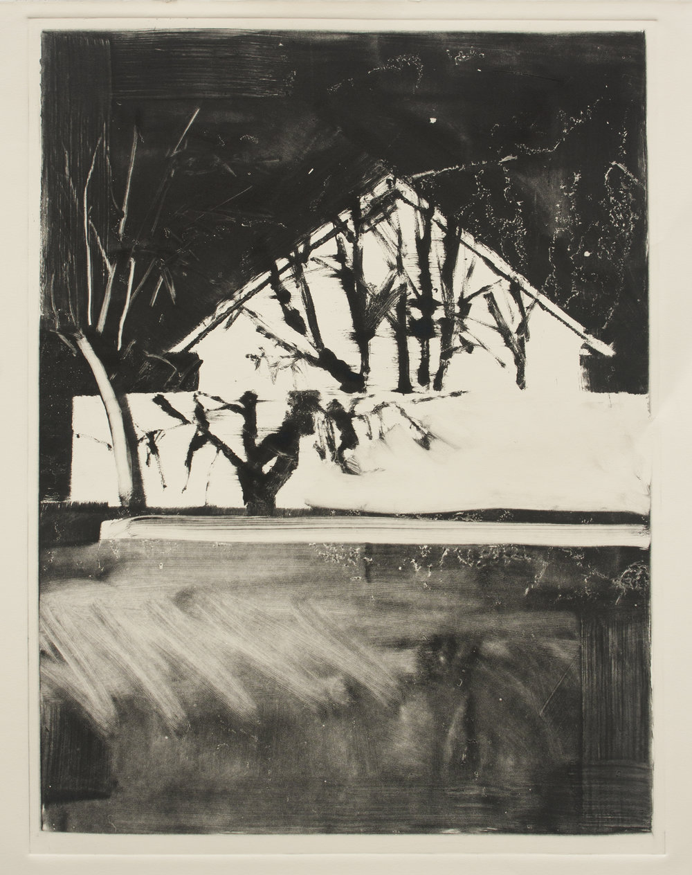 Monotype by Visiting Artist Nathan Zeidman - Spring 2014