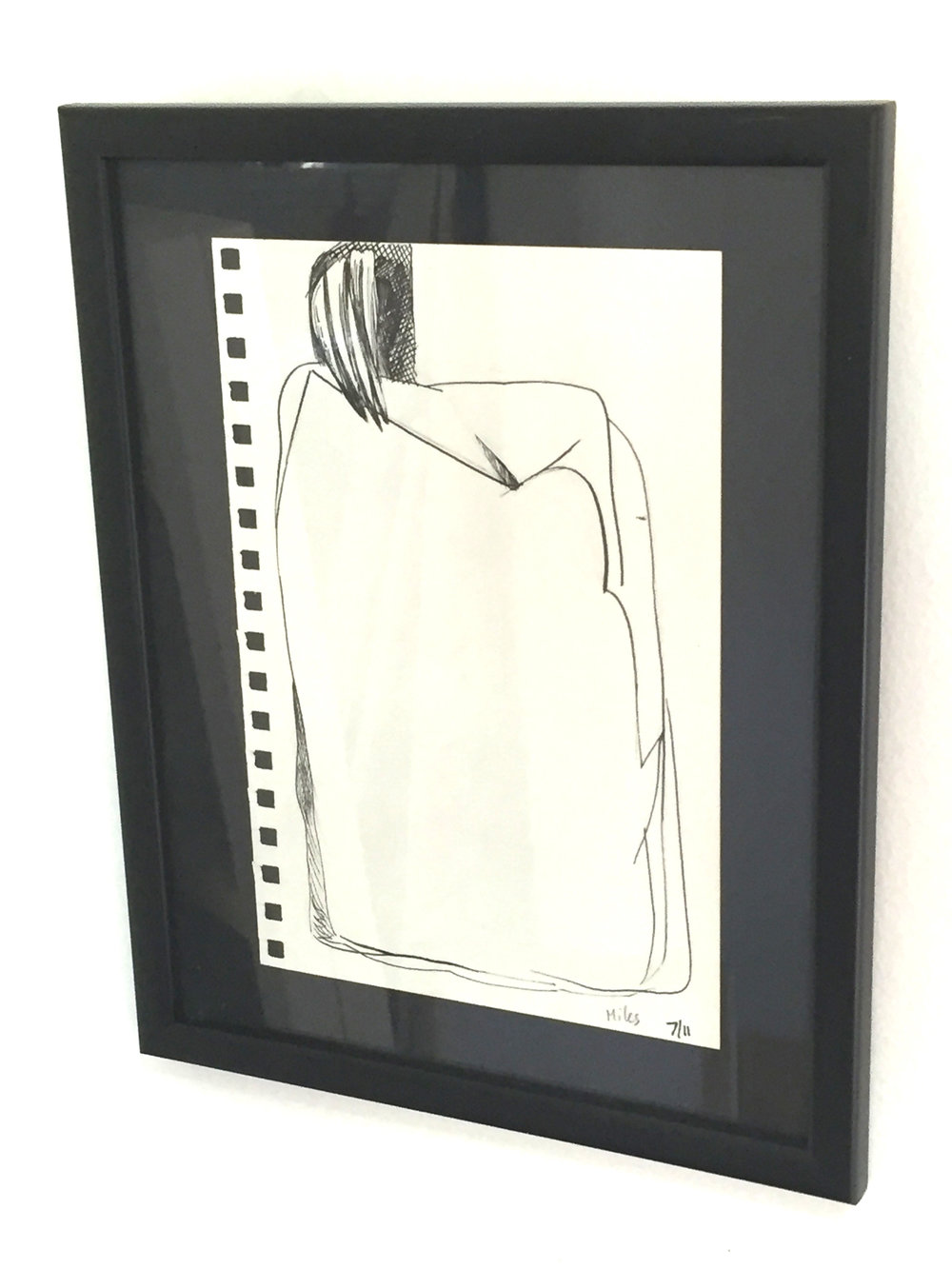 Creature On Rock - SOLD - Ink on Paper, 9.5'' x 12'' FRAMED.