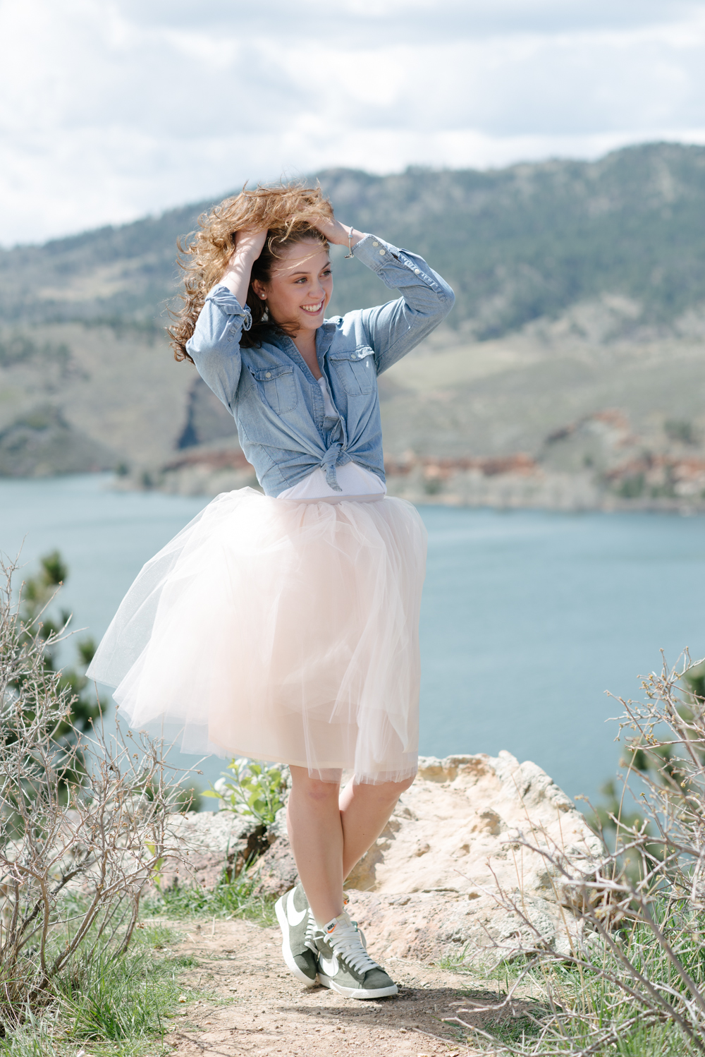 Shop our Signature Tulle Skirt in Blush to get this look.  Get this look by pairing it with the items below.