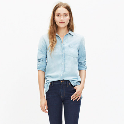 Women's Chambray Button Down Shirt